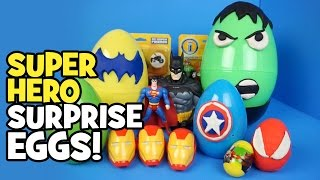 Avengers Toys - Play-doh Surprise Eggs with Imaginext Batman Toys & Spiderman Toys by KidCity