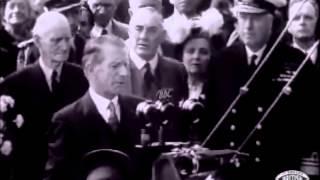 RMS Pretoria Castle - Union Castle Line - The launch - footage