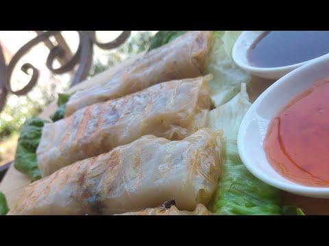 مملحات-سبرينج-رول-أو-لي-نيم-بحشوة-لذيذة😋-nems-crevettes-viande-hachée..-spring-rolls-meat-&-shrimp
