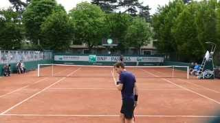 Andy Murray Hitting in court level view ᴴᴰ