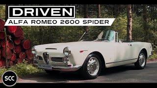 ALFA ROMEO 2600 Spider 1965 - Full test drive in top gear - Engine sound   SCC TV