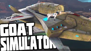 Goat Simulator - BLOWING UP EARTH, HOVER BIKES AND SPACE SHIPS (Waste of Space DLC Gameplay)
