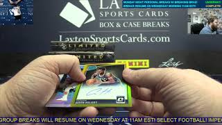 2018-19 Optic NBA + Limited & One FB 6 Box Break for Andrew S