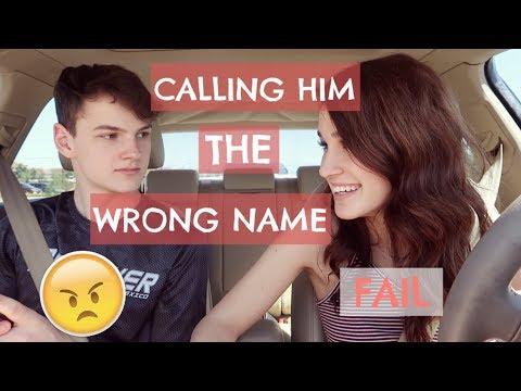 GIRLFRIEND CALLS BOYFRIEND WRONG NAME PRANK (GONE WRONG)
