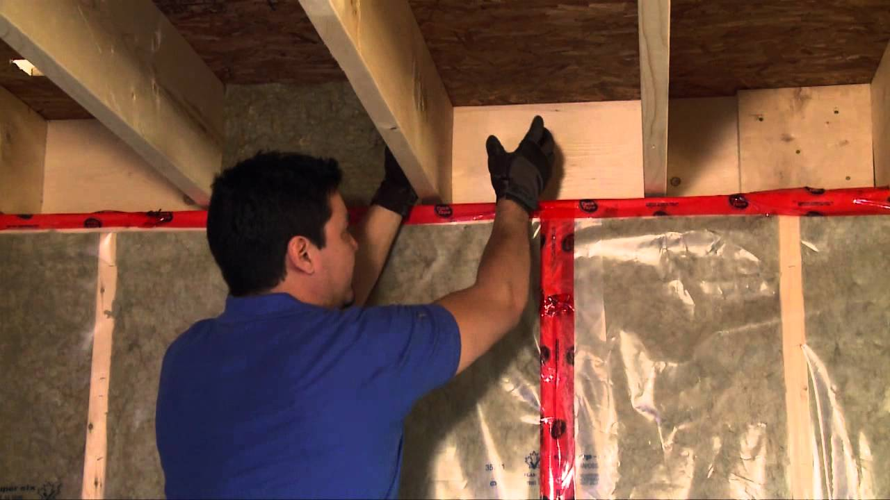 How to Insulate a Basement Header - YouTube