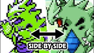 Pokemon Crystal Vs. Emerald : All Sprite Animations Comparison (HQ)