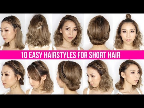 10 Easy Ways To Style Short Hair & Long Bob