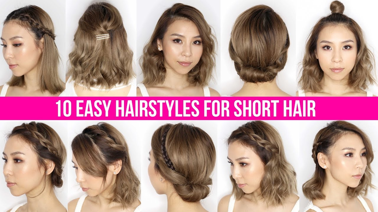 Easy Short Hair Styles 10 Easy Ways To Style Short Hair & Long Bob  Tina Yong  Youtube