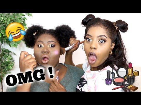 Doing My Little Sisters Make Up 😂 | Q&A