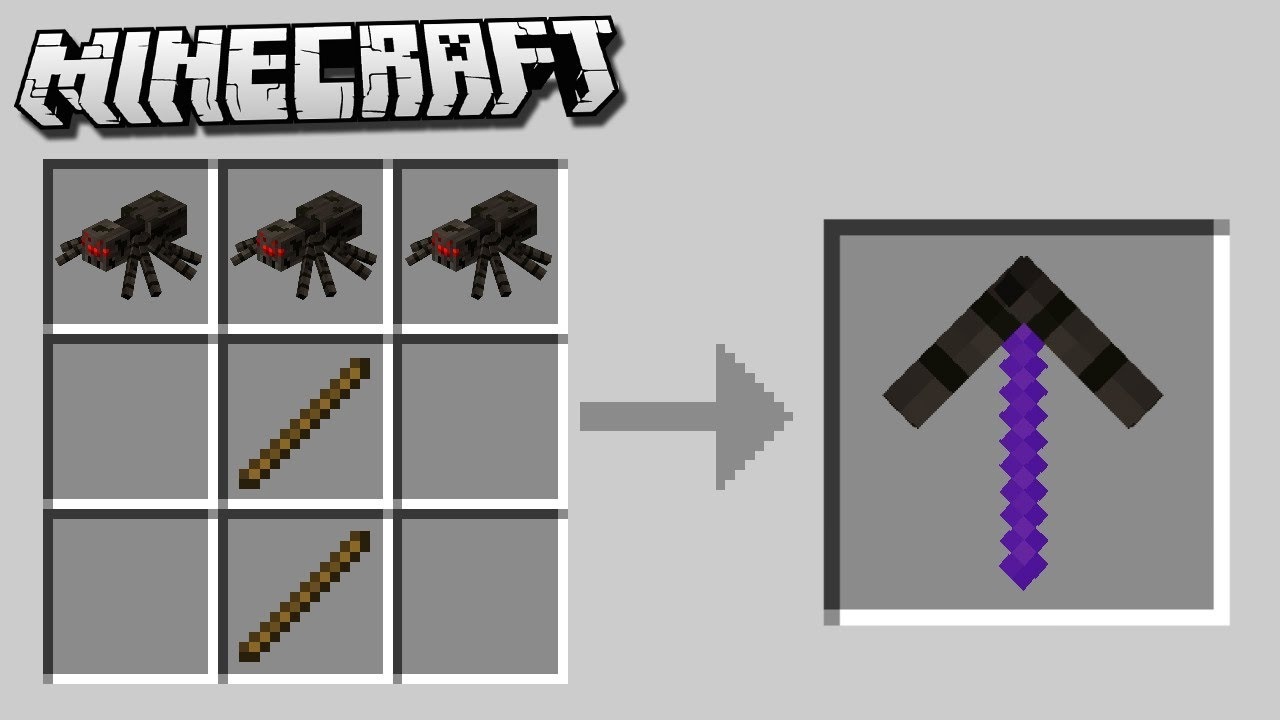 How to Craft MOB PICKAXES & SWORDS in Minecraft!
