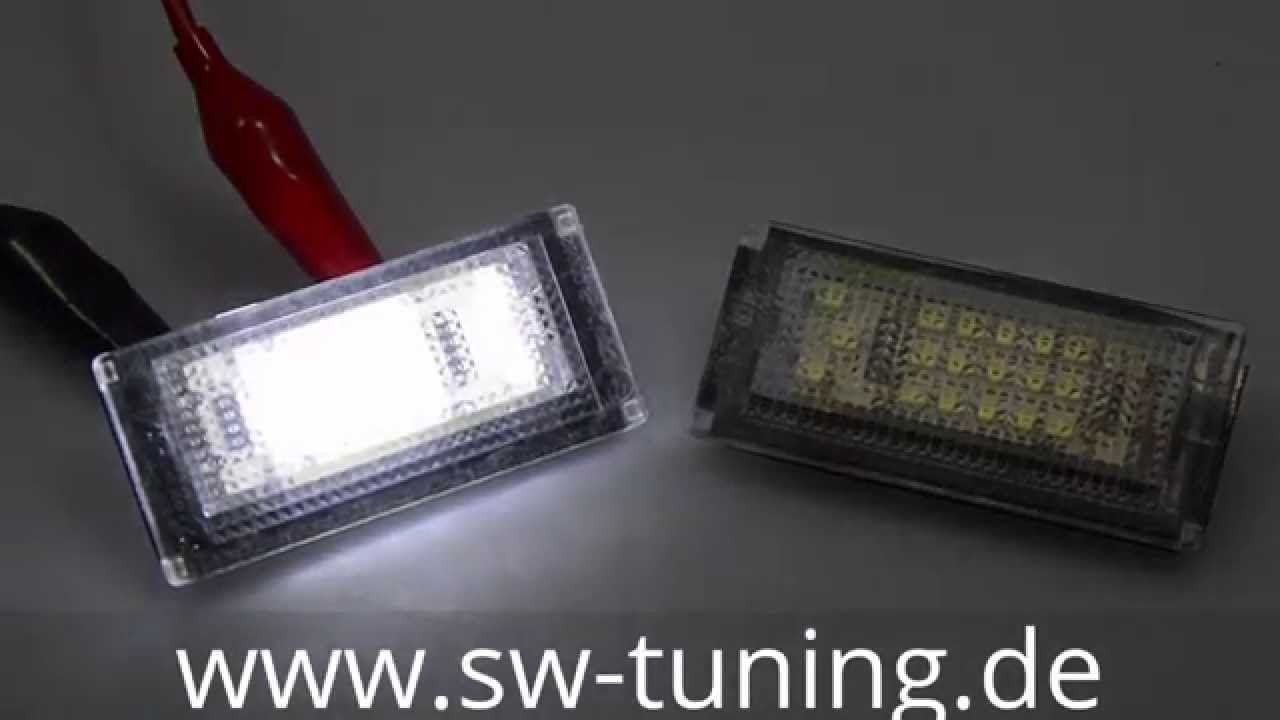 LED Kennzeichenbeleuchtung Nummerschild Beleuchtung BMW Mini Cooper R50//R52//R53