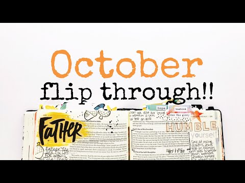 JOURNALING BIBLE FLIP THROUGH!!   OCTOBER