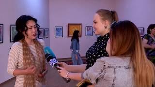 Дебютная выставка художницы Меруерт Ескараевой в Шымкенте