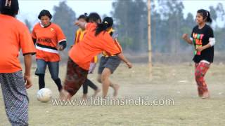 Football match between Married vs unmarried women in Manipur, India