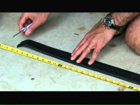 How To Install A Garage Door Bottom Seal You