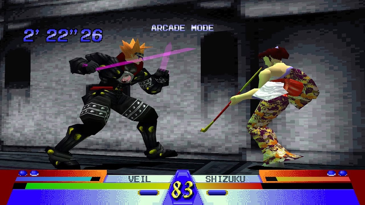 Battle Arena Toshinden 3 Ps1 Play As Veil Youtube