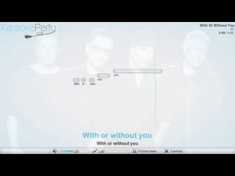 U2 - With Or Without You - karaoke