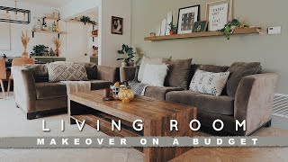 DIY LIVING ROOM MAKEOVER ON A BUDGET | REALISTIC + EASY REFRESH FOR ANYONE!