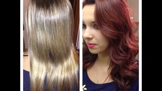 Bleach Blonde to Red Violet Makeover