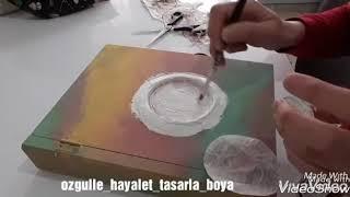 Hızlandırılmış Kitap Kutu Boyama - Ahşap Boyama - Eskitme Pudrası