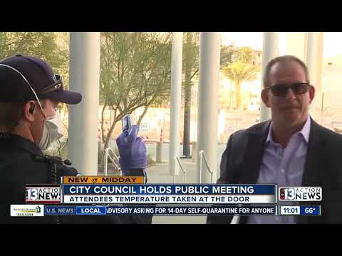 Las Vegas City Council Meeting Takes Place At City Hall