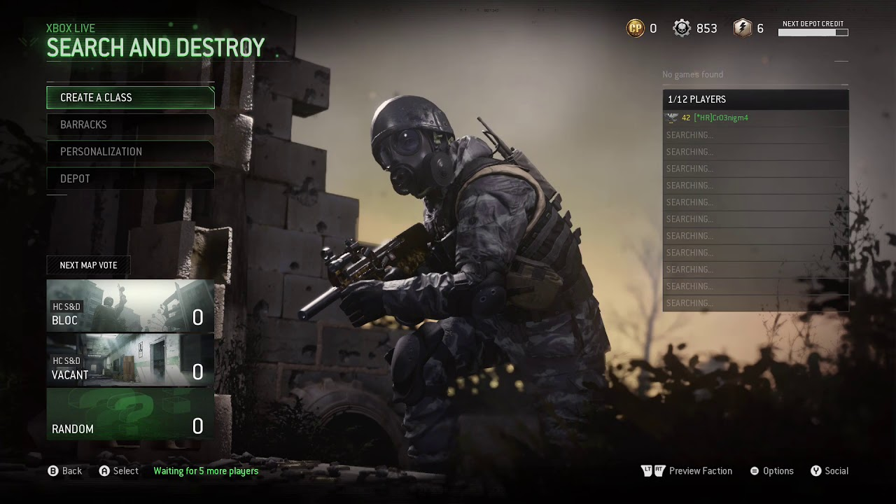 COD: Remastered Xbox One X - No games found issue