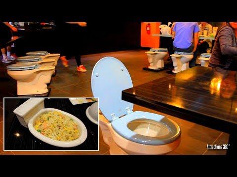 [HD] Toilet Restaurant - Unique Bathroom-themed Restaurant