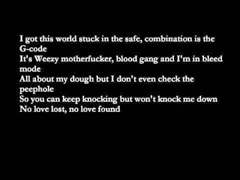 Eminem- No Love ft. Lil Wayne with lyrics
