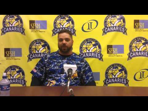 Sioux Falls Canaries Post-Game Press Conference (6-12-15)