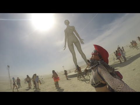 Burning Man 2015, GoPro Unedited Footage, Nevada Desert
