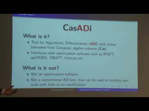 Introduction to Optimization and Optimal Control using the software packages CasADi and ACADO