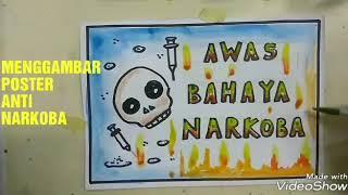 Cara Menggambar Poster Bahaya Narkoba Drawing Poster Anti Dadah Mulyadi Art Class Youtube