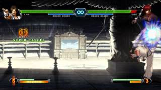 King of fighters XIII command short cut and hold button trick