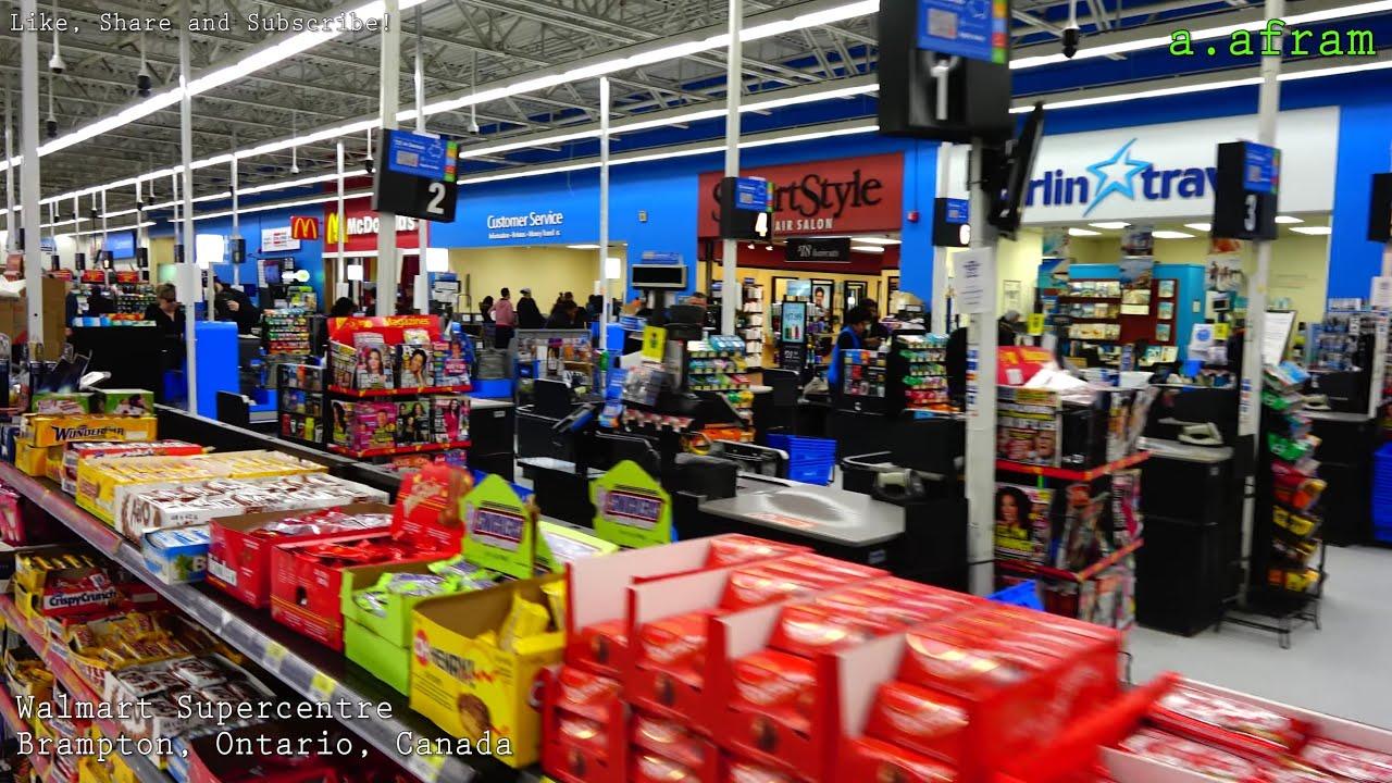 100 Grocery Shopping At Walmart With Self Checkout Walking Tour In Brampton Ontario Canada 4k Youtube