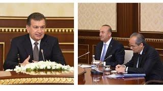 O'zbekiston Prezidenti Turkiya tashqi ishlar vazirini qabul qildi
