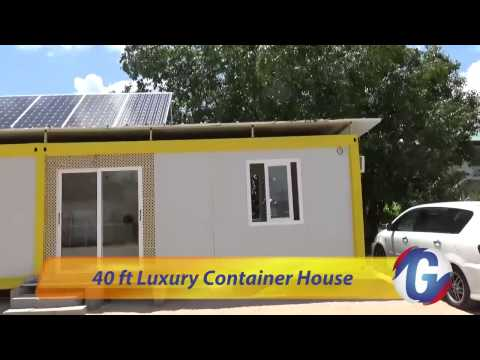 40 ft luxury container house in Suriname