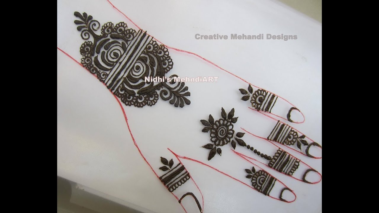 DIY Beautiful Dubai Style Henna Mehndi Design Tutorial - YouTube