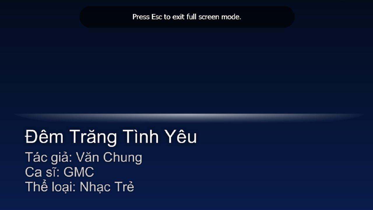Karaoke Dem Trang Tinh Yeu Gmc Band Youtube