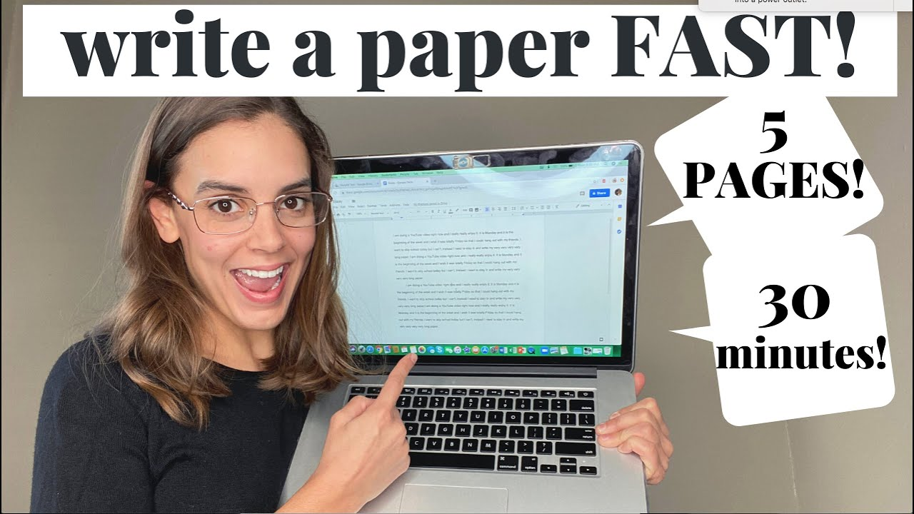 How To Write A 5 Page Paper In 30 Minutes 2019 Youtube
