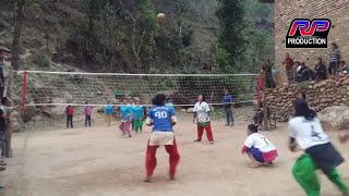 हेर्नुहोस्  सिधै छातीमा बजायो  ,Volleyball game at baglung nepal 2074/RP PRODUCTION