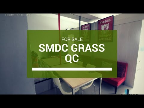 Fully Furnished Condo in SMDC Grass Residences in QC for Sale 3.5M