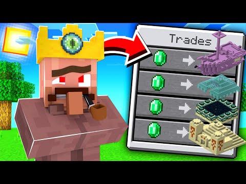 ماين كرافت بس القروي يعطينا القلاع!😱  - Villagers Trade Structures