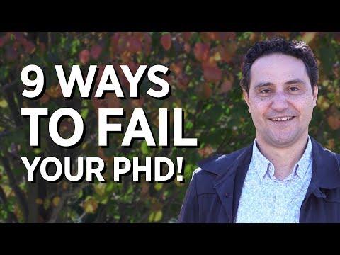 9 Ways To Fail Your PhD!