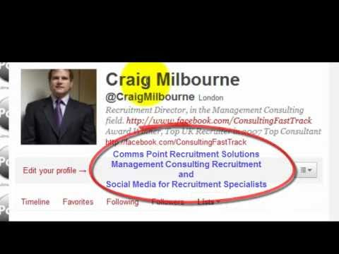 Recruiting with Twitter - Craig Milbourne responds to Top Consultant's Killer Question?
