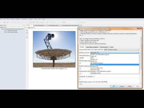 Concentrated Solar Gas Engines simulink model run