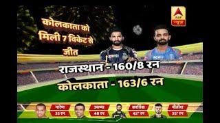 IPL 2018: Kolkata Knight Riders Beat Rajasthan Royals Mercilessly   ABP News