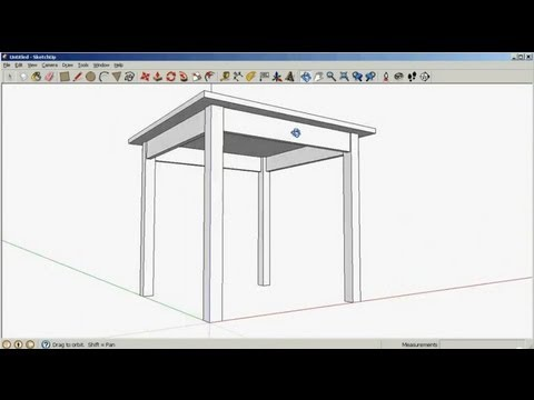 SketchUp: Drawing a table