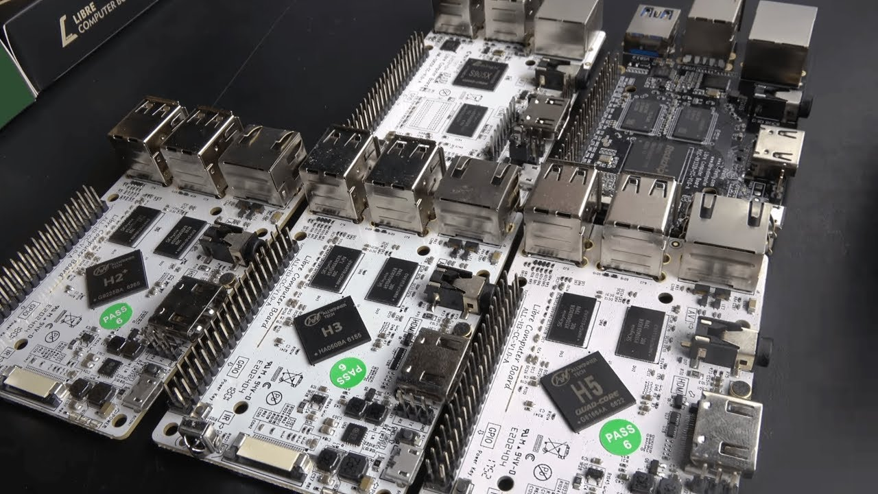 Libre Computer Development Boards S905X, RK3328, H2+/H3/H5 form-factor  compatible with Raspberry Pi