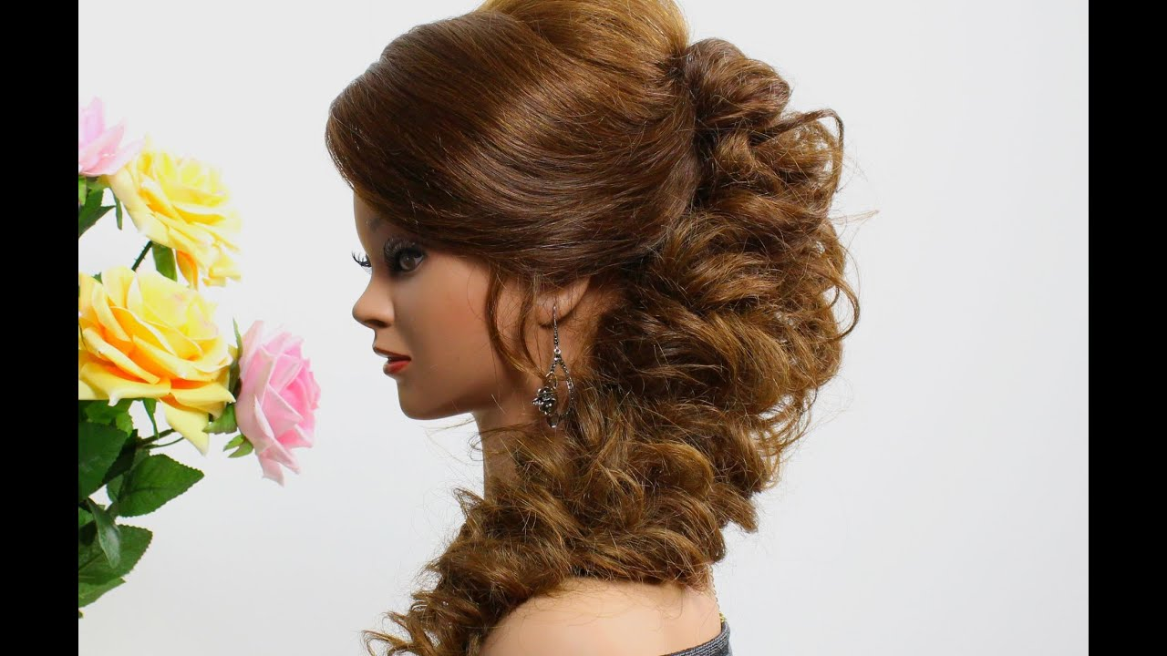 prom hairstyle for long hair. tutorial - youtube