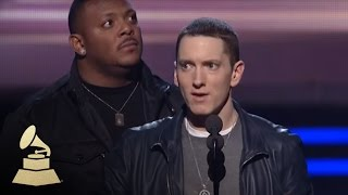 Скачать Eminem Accepting The GRAMMY For Best Rap Album At The 53rd GRAMMY Awards GRAMMYs